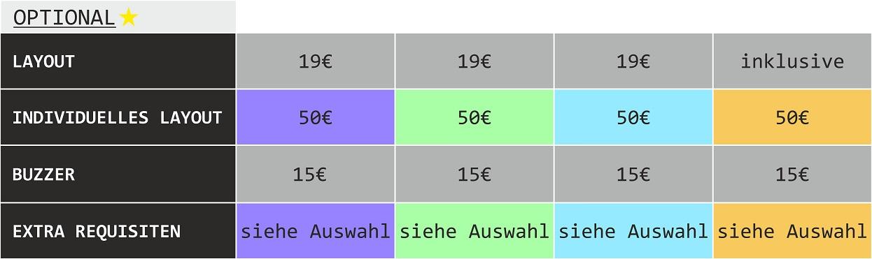 Fotobox Preise Optional